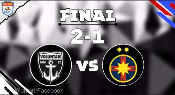 Fotbal - Liga I: FC Voluntari - FCSB 2-1